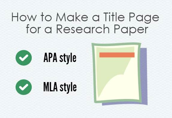 How to Make a Title Page for a Research Paper