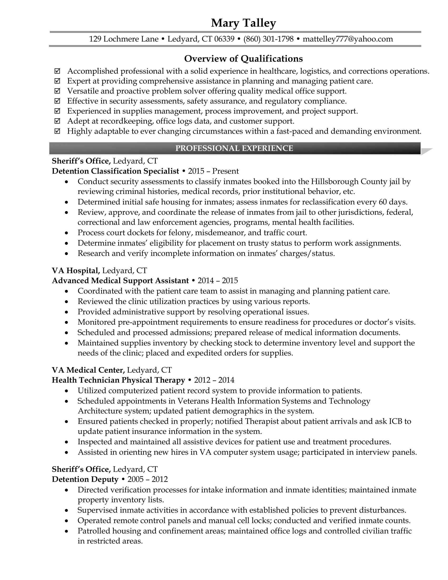 Free Example of Senior Level Resume in PDF