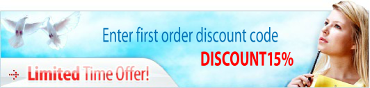 Get 15 discounts for the first order