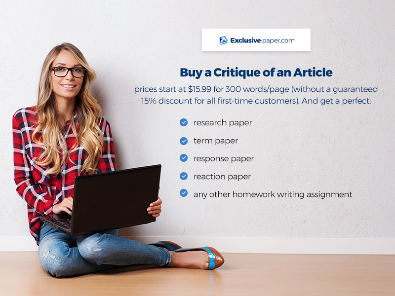Buy a Critique of an Article for a Research Paper