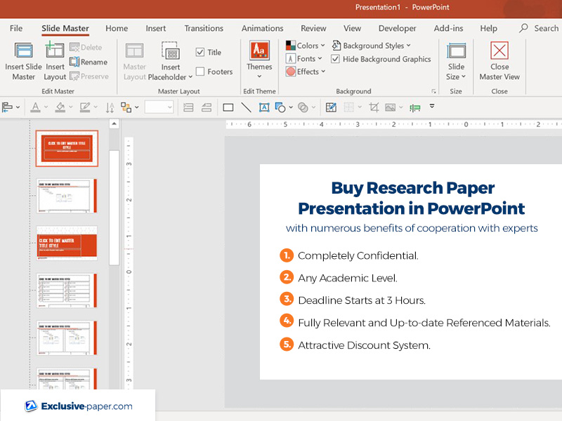 Buy Research Paper Presentation in PowerPoint