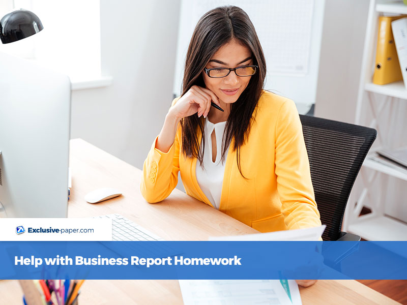 Help with Business Report Homework