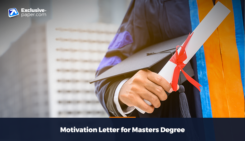 Motivation Letter for Masters Degree